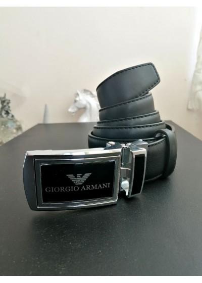 Мъжки колан от кожа с автоматична тока за подарък за младоженец- Armani