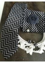 комплект за младоженец луксозна вратовръзка, кърпичка, ръкавели и бутониера в черно