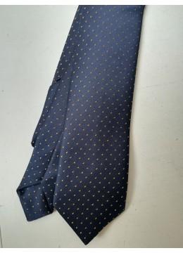 Официална копринена вратовръзка за младоженец в тъмно синьо и златно