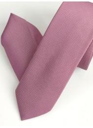 Комплект тънка мъжка копринена вратовръзка и кърпичка в цвят пепел от роза