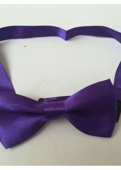 Детска папийонка за официални случаи в тъмно лилаво