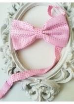 Папийонка за младоженец в розово