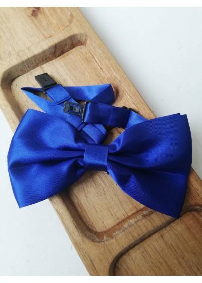 Мъжка сватбена папионка в кралско синьо