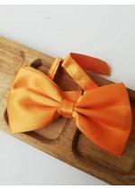 Мъжка сватбена папионка в оранжево