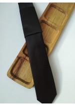 Луксозна мъжка вратовръзка за бизнес - жакард в черно и тъмно лилаво by Greda K0883