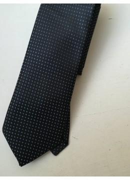 Луксозна и стилна копринена мъжка вратовръзка в тъмно и светло сини нюанси