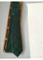Елегантна вратовръзка за младоженец и абитуриент в тъмно зелено by Polovito
