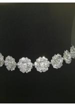 Елегантен колан с инкрустирани кристали Сваровски за булка или абитуриентка Fleur de la lune by Atelier Roses and Crystals