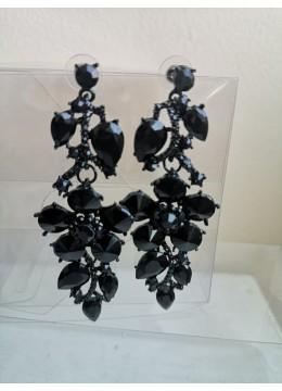 Елегантни кристални обици в черно Black Crystals