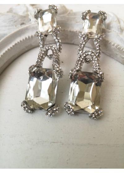 Булчински обици с кристали - Crystal Shine