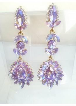 Дълги официални обици в цвят светло лилаво с ефект хамелеон Gentle Purple