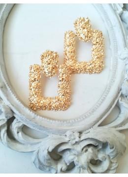 Изящни кристални обици в златно Gold Glamm