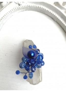 Нежен син кристален пръстен за бал и официални поводи A little piece of Heaven