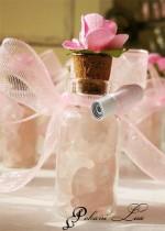Сувенирче за гости на бал с розов кварц и цвете - над 20 бр