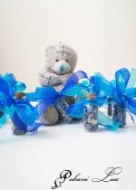 Сувенири за гости на бал шишенце Дуо с натурален камък лазурит и кристал- над 20 бр