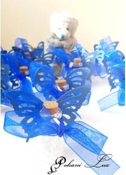 Подаръче за гости на бал шишенце с полускъпоценен камък планински кристал и таг- над 20 бр