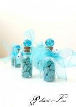 Абитуриентски подаръци за гости в цвят тюркоаз - шишенце с кристал над 20 бр