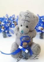 Подаръче за кръщене шишенце в тъмно синьо над 20 бр