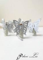 Подаръчета за гости за кръщене шишенце в сребърно с тагче над 20 бр