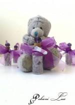 Сувенирче за гости на абитуриентски бал и сватба цвят тъмно лилаво с кристал над 20 бр