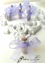 Сватбено подаръче за гости шишенце с естествен камък аметист и кристал над 20 бр