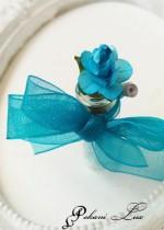 Сувенир за гостите на абитуриентски бал цвят тюркоаз Дуо роза над 20 бр