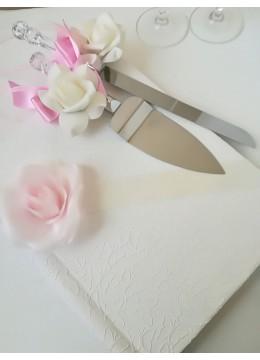 Прибори за сватбена торта в розово серия Japanese Blossom by Rosie Concept