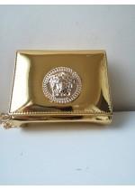 Луксозна малка дамска чанта за булка в златно модел Versace Gorgon Gold