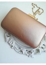 Елегантна дамска чанта цвят праскова