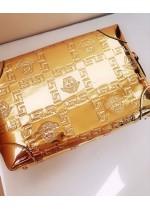 Луксозна официална дамска чанта в златно модел Gorgon Gold