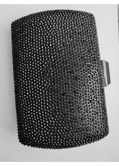 Дамски клъч с черни кристали Сваровски Black Queen