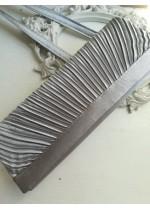 Чанта сатен цвят Сиво Сребро Luca Borse