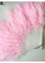Ветрило за булка от нежни розови пера